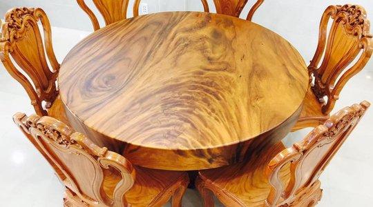 Bộ bàn gỗ me tây 06 ghế siêu đẹp