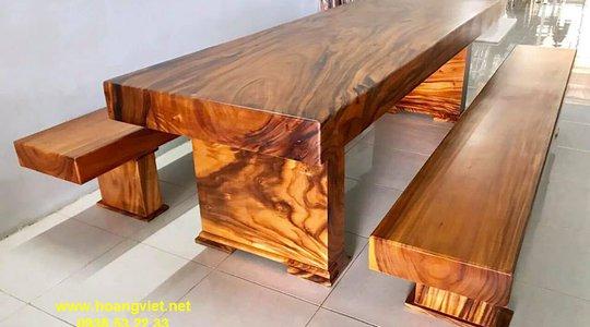 Bộ bàn 3 tấm gỗ me tây