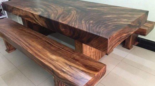 Bộ bàn gỗ me tây 3 tấm