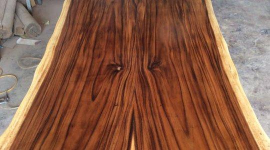 Mặt bàn gỗ me tây ghép 2 tấm