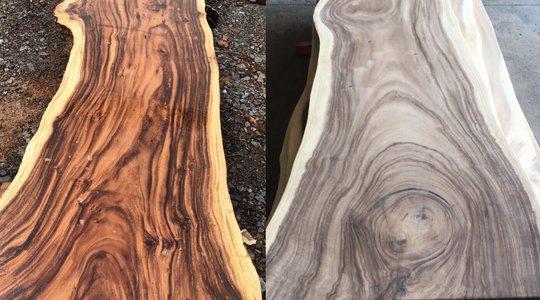 Mặt bàn gỗ me tây nguyên bìa