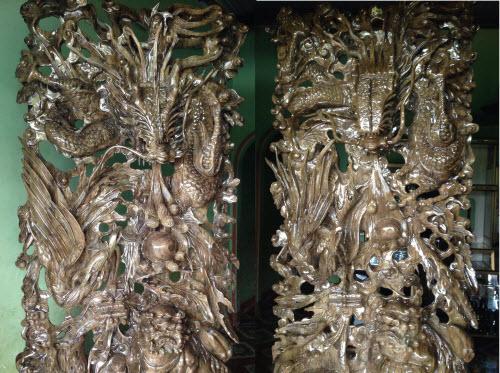Tranh tứ linh gỗ thủy tùng tuyệt đẹp tại Hoàng Việt