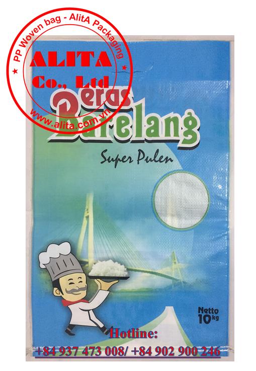 Bao gạo 10kg ghép màng BOPP