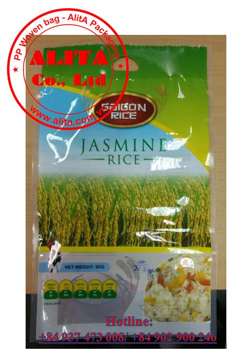 Túi đựng gạo 5kg PA/PE