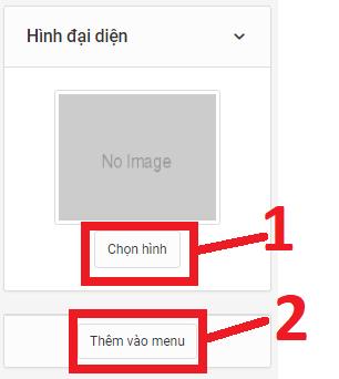 Tùy chọn hình cho thể loại bài viết